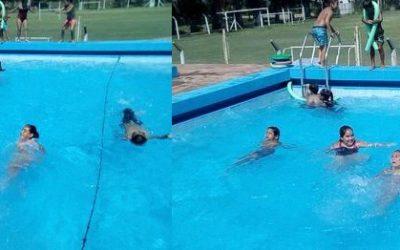 A pura natación